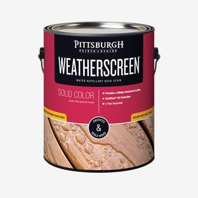 WEATHERSCREEN<sup>®</sup> Exterior Stain - Solid Color
